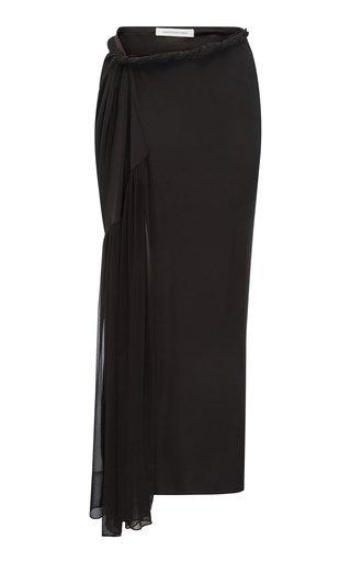 Twisted Silk Sarong Skirt