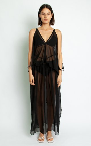 Silk Kaftan Scarf Dress
