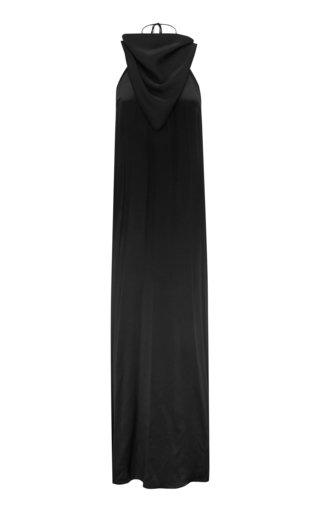 Knotted T-Bar Silk Handkerchief Bias Dress