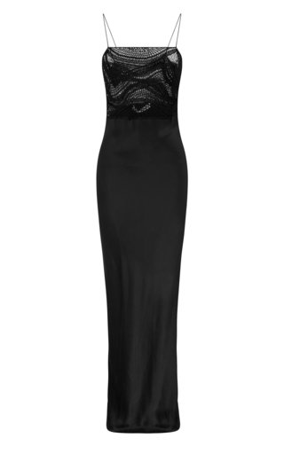 Tropic Crochet-Detailed Silk Maxi Dress