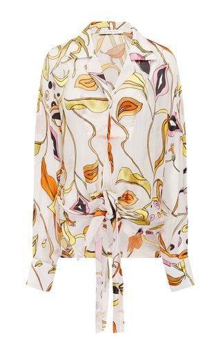 Tropic Nouveau Silk Camp Collar Shirt