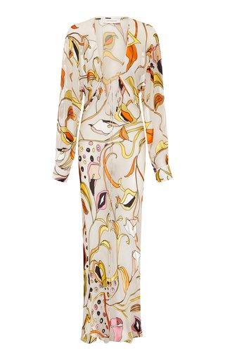 Tropic Nouveau Triquetra Silk Maxi Dress