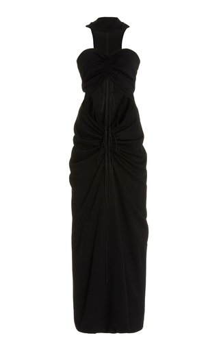 Disconnect Ruched Halter Dress