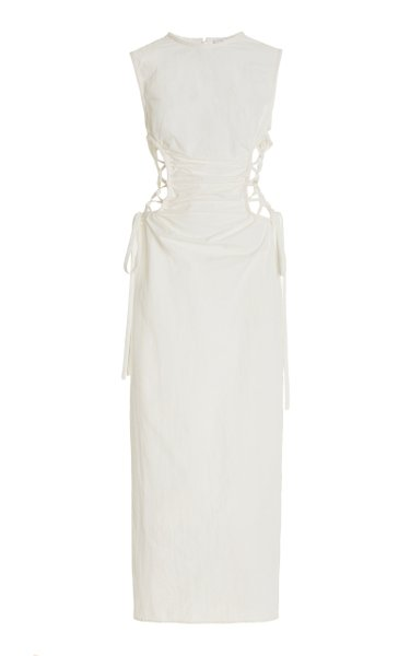 Ruched Side-Laced Shell Dress