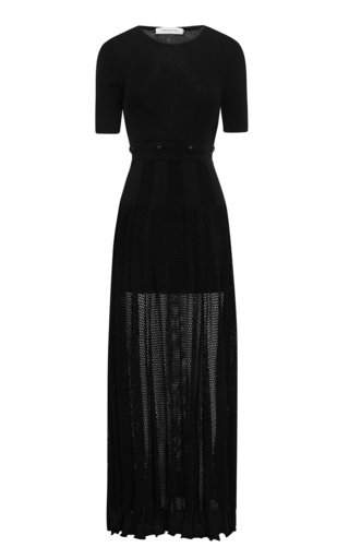 Deconstructed Mesh Tee Maxi Dress