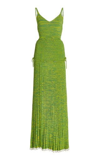 Deconstructed Knit Maxi Dress