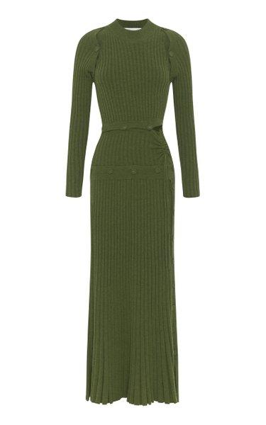 Deconstructed Wool-Knit Cashmere Dress