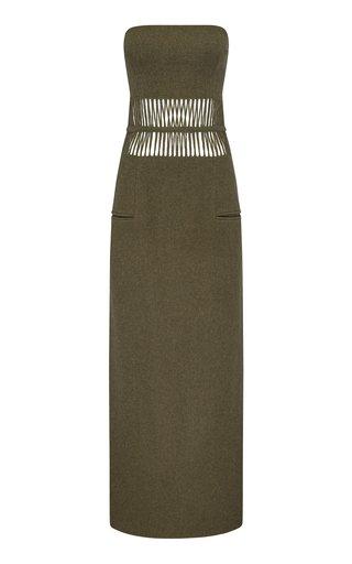 Tailored Tassel Torso Wool-Knit Dress