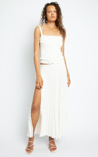 Contoured Bodice Deconstructed Knit Dress