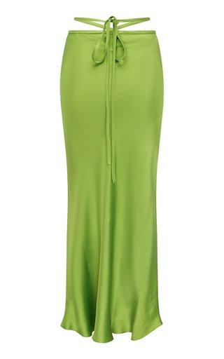 Loophole Bias Silk Tie Skirt