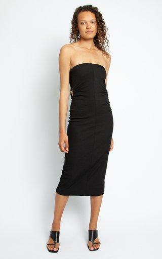 Fran Ruched Orbit Strapless Dress