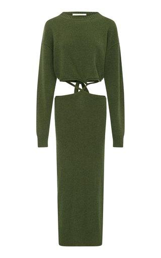 Wool-Cashmere Knit Sweater Dress