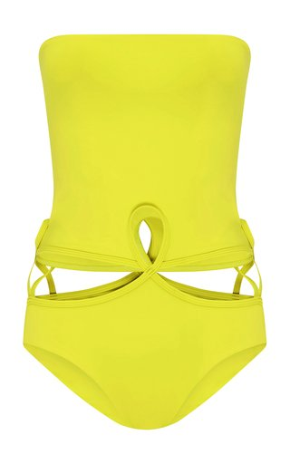 Looped Strapless Swimsuit