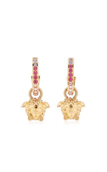 Medusa Ombré Crystal-Embellished Hoop Earrings