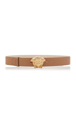 Gold-Tone La Medusa Leather Belt