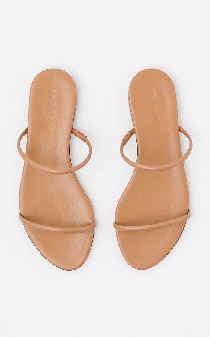 Alek Leather Flat Sandals