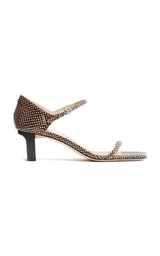 Paulina Snake-Effect Sandals