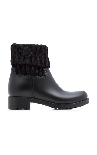 Ribbed Rubber Ankle Boots