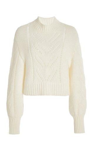 Oversized Pointelle-Knit Sweater