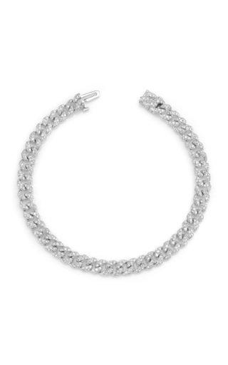 18K White Gold Mini Pave Diamond Bracelet