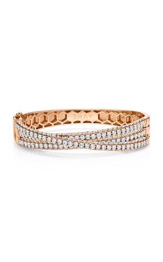 18K Rose Gold Three Sided Diamond Orbit Bracelet