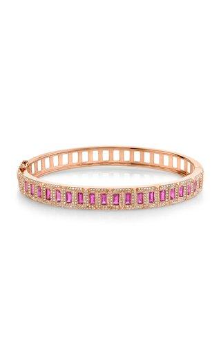18K Rose Gold Diamond & Ruby Trek Bangle Bracelet