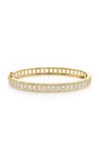 18K Yellow Gold & Diamond Trek Bangle Bracelet