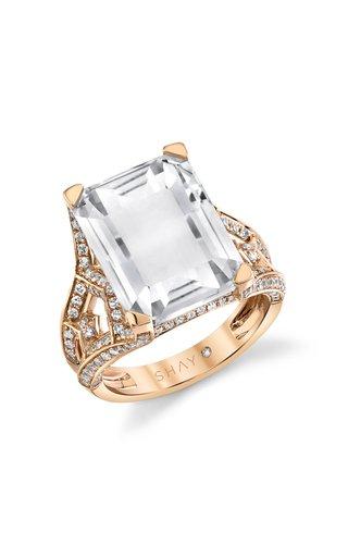 18K Rose Gold Gemstone Tower Ring