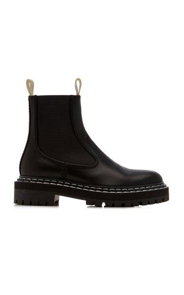 Lug-Sole Leather Chelsea Boots