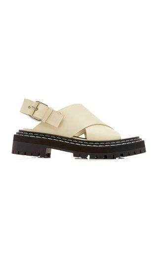 Lug-Sole Leather Sandals