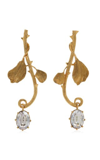 Thorn Crystal-Embellished Gold-Plated Earrings
