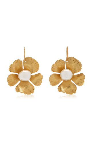 Small Flower Gold-Plated Resin Earrings