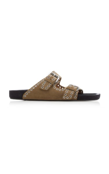 Lennyo Studded Suede Sandals