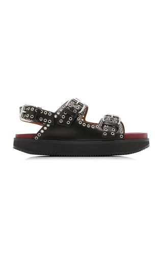 Ophie Studded Leather Sandals