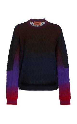 Ombre Knit Wool Sweatshirt