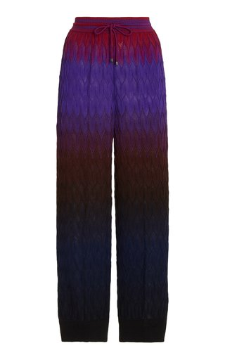 Ombre Knit Wool Joggers