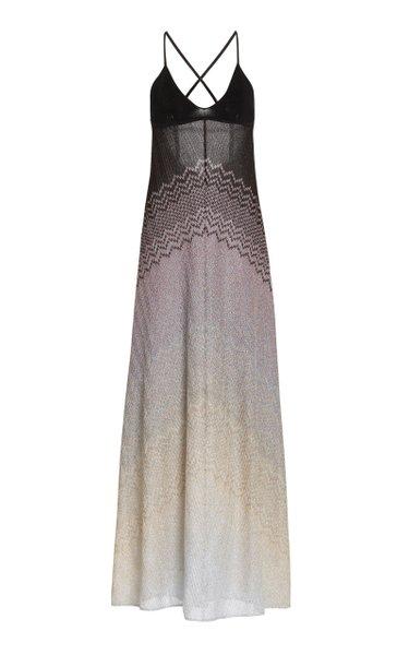 Chevron Knit Maxi Dress