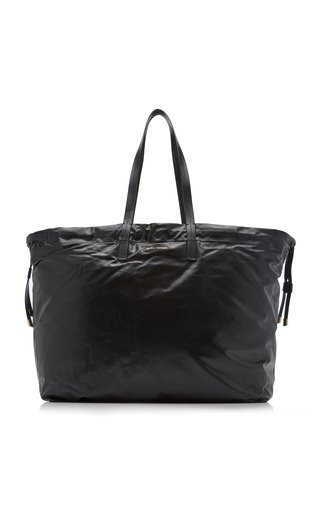Chagaar Crinkled Leather Tote Bag