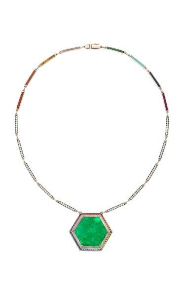 One Of A Kind Muzo Anahata Emerald Pendant
