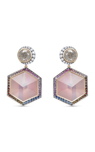 One of a Kind 3D Cube Drop Earrings