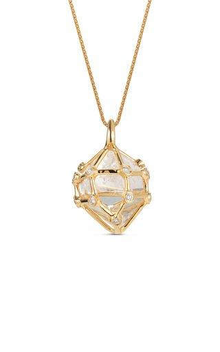 Large Herkimer Diamond Pendant