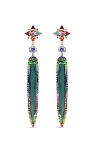 One of a Kind Tourmaline Star Earrings