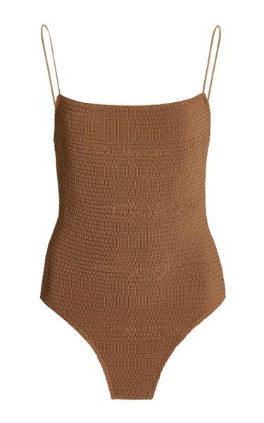 Smocked One-Piece Swimsuit