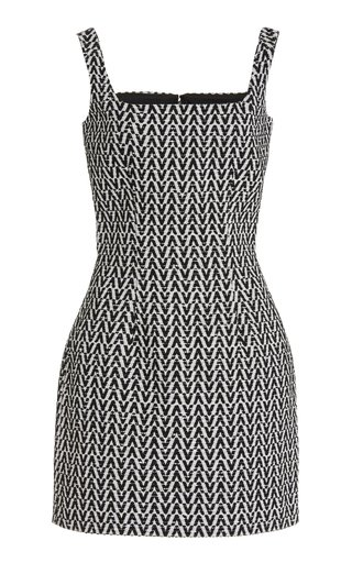 Logo-Detailed Cotton-Blend Tweed Mini Dress