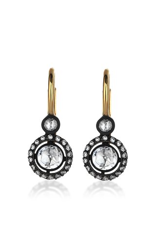 Palace Heritage 18K Yellow Gold and Rose Cut Diamond Earrings