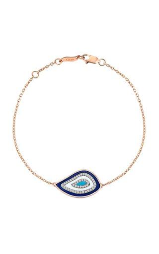 Nazar Evil Eye Rose Gold Enamel and Diamond Bracelet