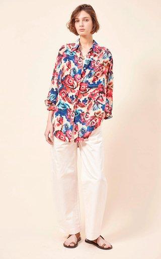 Vali Printed Silk Crepe Shirt