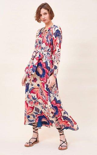 Dana Printed Crepe De Chine Maxi Dress
