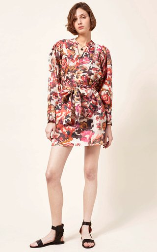 Tait Printed Cotton-Silk Blend Mini Dress
