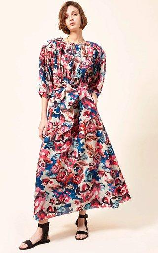 Eugen Cotton-Silk Blend Voile Printed Maxi Dress